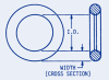 ORings Buna-N 3/64 to 3/32 Cross Section #FAQ-C1-40 -- FAQ-C1-40