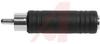Adapter, RCA; RCA Plug; Nickel Plated Brass; Black -- 70197193