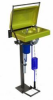 Mainfed Eyewash Station -- GEB2 Pedestal, Mains-Fed Eyewash with Protective Activator Cover & Flexible Facewash