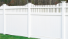 Vinyl Fence - Privacy -- Chesterfield with Huntington Accent