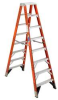 WERNER 8 Ft. Twin Fiberglass Step Ladder 375 lb. Capacity -- Model# T7408