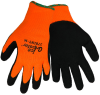 Global Glove Ice Gripster Black/Orange Small Acrylic/Terry Cloth Cold Condition Gloves - Latex Foam Palm & Fingers Coating - 378INT SM -- 378INT SM