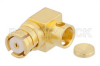 SMP Female Right Angle Connector Solder Attachment for PE-SR405AL, PE-SR405FL, PE-SR405FLJ, PE-SR405TN, RG405, Chamfered Body -- PE44908 -Image