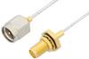 SMA Male to SMA Female Bulkhead Cable 48 Inch Length Using PE-SR047FL Coax -- PE34245-48 -Image