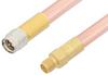 SMA Male to SMA Female Cable 6 Inch Length Using RG401 Coax, RoHS -- PE33896LF-6 -Image