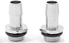"""Swiftech 1/4"""" BSPP x 1/2"""" Barb Chrome Plated Fitting -- 20743 -- View Larger Image"""