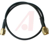 RF Coax Cable Assembly, RG174/U 50 Ohm Cable, SMA/SMA Male/Male Connectors, 12