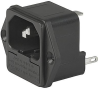 IEC Appliance Inlet C14 with Fuseholder 1- or 2-pole -- 1062 - Image