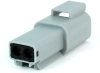 Molex 93444-1202 Sealed 2 Circuit Receptacle Housing, Pre-Assembled Rear Seal and Cover, Grey -- 38421 -Image