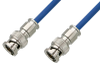 75 Ohm BNC Male to 75 Ohm BNC Male Cable 24 Inch Length Using 75 Ohm PE-B159-BL Blue Coax -- PE38130/BL-24 -Image