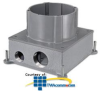 Hubbell SystemOne Round, Multi-Service Floor Box - Cast.. -- S1CFB