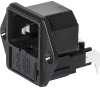 IEC Appliance Inlet C14 with Fuseholder 1- or 2-pole for PCB -- KEA-Print - Image