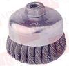 "WEILER 12316P ( WIRE CUP BRUSH, 4"" SINGLE ROW, .023 5/8""-11 A.H. ) -Image"