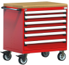 R Mobile Cabinet, 6 Drawers (36