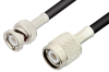 TNC Male to BNC Male Cable 48 Inch Length Using 53 Ohm RG55 Coax -- PE3904-48 -Image