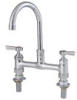 8 IN Lead Free Deck Mount Faucet with 9 IN Gooseneck Spout -- 0239844 - Image