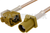 Curry FAKRA Plug to FAKRA Jack Right Angle Cable 60 Inch Length Using RG316 Coax -- PE38757K-60 -Image