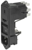 IEC Appliance Inlet C14 with Fuseholder 1- or 2-pole, Line Switch 2-pole and Voltage Selector