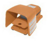 Heavy Duty Industrial Foot Switch Cast Metal, Alert Orange -- 78366721213-1 - Image