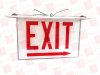 ALKCO LIGHTING PGLO2-RW-R ( EXIT SIGN DOUBLE PANEL RED LETTERS ON CLEAR PANEL WITH WHITE BACKING RIGHT CHEVRON ) -- View Larger Image