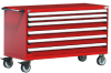 """R Mobile Cabinet, 6 Drawers (60""""W x 27""""D x 37 1/2""""H) -- R5BKG-3008 -- View Larger Image"""