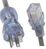 Kabelverbindung 16 A, North America, Medical, 3.0 m, Connector IEC C19, SJTW 3x14 AWG, Transparent