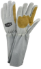 West Chester White/Tan Large Grain Cowhide Leather Welding Glove - 662909-871022 -- 662909-871022