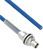 Halogen Free Cable Assembly TRB Insulated Bulk Head 3-Lug Cable Jack with Bend Relief to Blunt MIL-STD-1553 .242