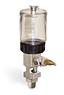 "(Formerly B1681-4), Single Feed Manual Lubricator, 2 1/2 oz Polycarbonate Reservoir, 1/4"" Male NPT -- B1681-0022B11W -- View Larger Image"