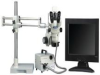 LUXO 23719RB-LCD ( ILLUMINATED TRINOCULAR MICROSCOPE SYSTEM; FEATURES:10X SUPER WIDEFIELD EYEPIECE; ZOOM CONTROL BY DUAL GRADUATED KNOBS; HOUSING ROTATES 360DEG IN FOCUS ) -- View Larger Image