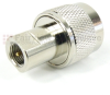 N Male (Plug) to FME Male (Plug) Adapter, Nickel Plated Brass Body -- SM6107 - Image