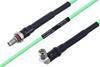 Temperature Conditioned SMA Female Bulkhead to SMA Male Right Angle Low Loss Cable 8 Inch Length Using PE-P160LL Coax -- PE3M0190-8 -Image