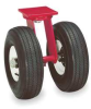 Dual Wheel Swivel Pneumatic Caster,2-1/2 -- 1VHN9