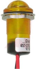 Indicator,Pnl;NoRelamp;Yellow;0.688In;Lens Yellow;24VDC;Hex Nut;Leadwires;LED -- 70082482