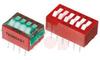 Switch, DIP; 0.680 in. L x 0.380 in. W;6; SPST; Thru-Hole; 0.1 in.; 0.02 in. -- 70216659 - Image