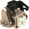 3 Pole with Ground Industrial Rectangular Connector Pre-Assembled Unit with Hood Mount Housing -- 403004M