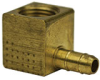 Fisnar 560728 Brass Barbed Elbow Fitting 0.125 in NPT Female x 0.125 in I.D. Tube -- 560728 -Image