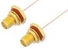 SMA Female Bulkhead to SMA Female Bulkhead Cable 48 Inch Length Using PE-020SR Coax, RoHS -- PE3932LF-48 -Image
