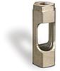 "303 Stainless Steel Window Flow Sight, 1/8"" Female NPT Inlet, 1/8"" Female NPT Outlet, Buna-N Seals -- B4766-1B - Image"