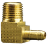 Fisnar 560713 Brass Barbed Elbow Fitting 0.25 in NPT Male x 0.125 in I.D. Tube