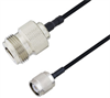 N Female to TNC Male Cable Assembly using LC085TBJ Coax, 2 FT -- LCCA30650-FT2 -Image