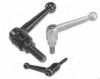 Zinc Die Cast Adjustable Clamp Levers With Male Threads -- 06430-4121X