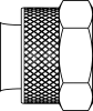 Brass Nut and Brass Sleeve -- 261PB-02 - Image
