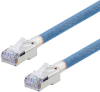 Category 5e Aerospace Ethernet Cable High-Temp SF/UTP FEP Blue RJ45, 2.0ft -- T5A00018-2F -Image