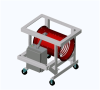 Process Air Heater - Forced Air - ChromaCube Portable Heating System for Use with Customer Supplied Air Source -- SDRA