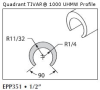 UHMW Natural Full-Round -- EPP351 -- View Larger Image