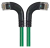 Category 6 Right Angle RJ45 Ethernet Patch Cords - RA (Left) to RA (Right) - Green, 20.0Ft -- TRD695RA8GR-20 -Image