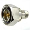7/16 DIN Male (Plug) to SC Female (Jack) Adapter, Nickel Plated Brass Body, High Temp, 1.25 VSWR -- SM4647 - Image