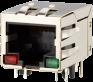 LED THRu Hole, Side Entry Modular Jack -- AJT33l8813-014