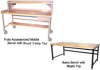 HEAVY-DUTY TUBULAR FRAMEWORK DOUBLE STRINGER WORK BENCHES -- HDSB3043117 - Image